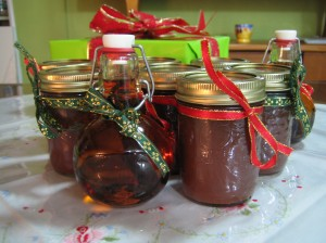 Homemade apple butter & vanilla extract